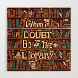 Go to the library Wood Wall Art