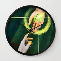 "dragon age inquisition Wall Clocks featuring Dragon Age Inquisition - Hope by Barbara ""Yuhime"" Wyrowińska"