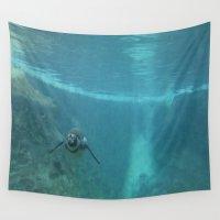 underwater Wall Tapestries featuring Underwater by liberthine01
