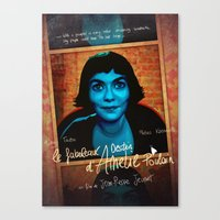 amelie Canvas Prints featuring Amelie by Anna Siviero