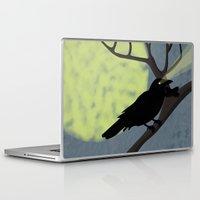 crow Laptop & iPad Skins featuring Crow by Nir P