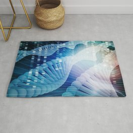 DNA Molecule Helix Science Abstract Background Art Rug