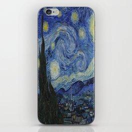 Vincent van Gogh's Starry Night iPhone Skin
