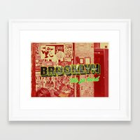 brooklyn Framed Art Prints featuring Brooklyn by nicole martinez