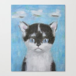 Kitten with Three Clouds Canvas Print