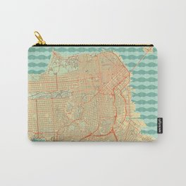 San Francisco Map Retro Carry-All Pouch