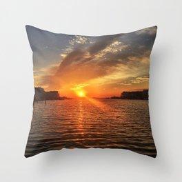 Brigantine Sunset I Throw Pillow