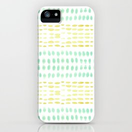 Striped dots and dashes iPhone Case