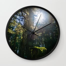 Light Through the Branches Wall Clock