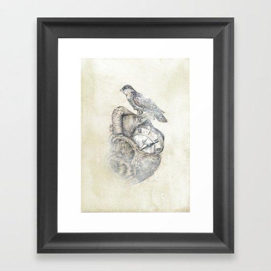 FlutterHeart Framed Art Print