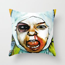 Realistic, Battle Damaged Finn  by Aaron Bir Throw Pillow