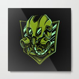 Space Soldier Lover Gift Idea Design Motif Metal Print