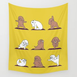 Poodle Yoga Wall Tapestry
