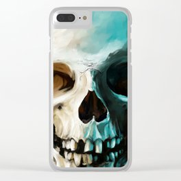 Skull 14 Clear iPhone Case