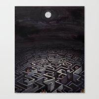 labyrinth Canvas Prints featuring Labyrinth by Richard J. Bailey