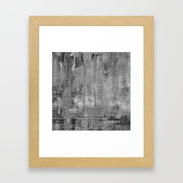 GREY MODERN INDUSTRIAL RUSTIC Framed Art Print