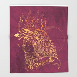 El Briguento - The Fighter (Golden) Throw Blanket