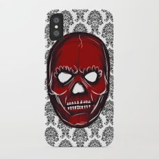 Skull mask iPhone X Slim Case