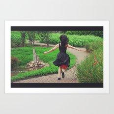 running free Art Print