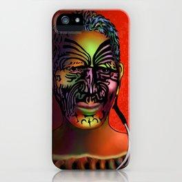 Maori Warrior 3 iPhone Case