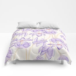 Purple Flower Comforters