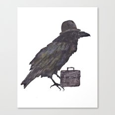 Raven, goth, goth art, business man raven, office decor, gift for boss like no other Canvas Print