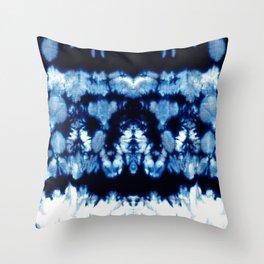Tie-Dye Shibori Neue Throw Pillow