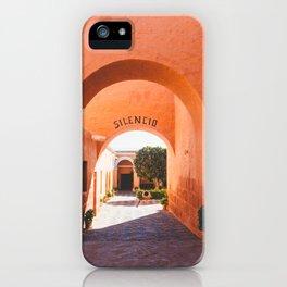 Silencio at the Santa Catalina Monastery, Arequipa, Peru iPhone Case