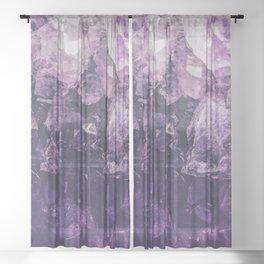 Amethyst Gem Dreams Sheer Curtain