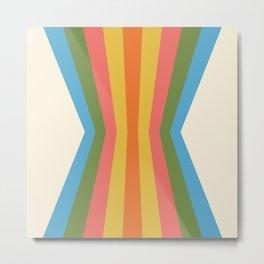 Retro Rainbow Reflection Metal Print