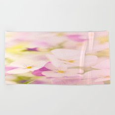Something delicious and soft - violets in pastel colors - #Society6 #buyart Beach Towel