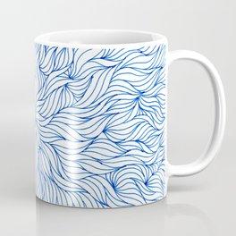 Blue seaweed mandala design Coffee Mug