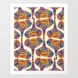 Elephant Play Art Print