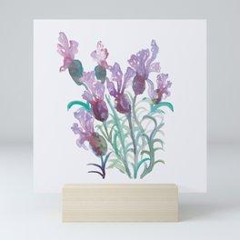 Purple lavendar bunch Mini Art Print