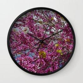 Pink twigs Wall Clock