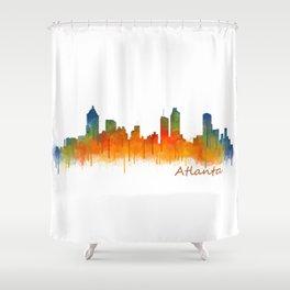 Atlanta City Skyline Hq v2 Shower Curtain