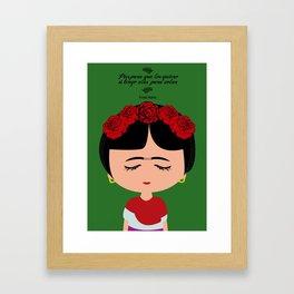 Camila Frida Framed Art Print