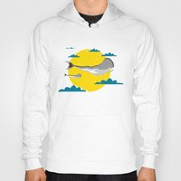 the whale Hoodies featuring WHALE by mark ashkenazi