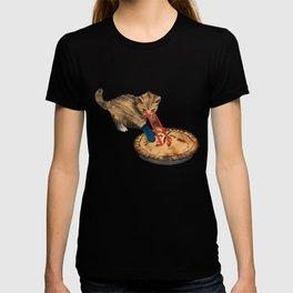 Laser-Eyed Kitten with a Mitten T-shirt