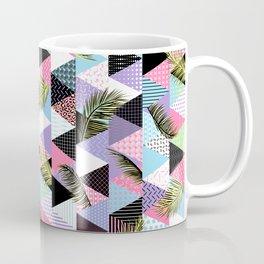 Memphis Style Triangle Palm Pattern – Pastel Coffee Mug