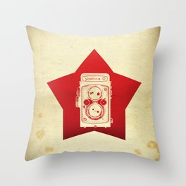 Yashica Camera Throw Pillow