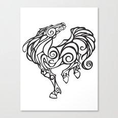 Horse Swirls Canvas Print
