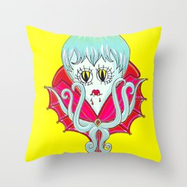 Vampiripus Vampus Throw Pillow