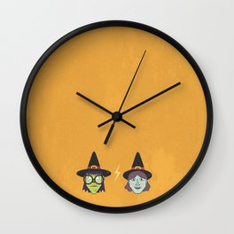 Good Witch VS Bad Witch Wall Clock