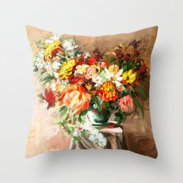 Sunny bouquet Throw Pillow