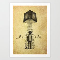 Take Me To Your Reader Art Print