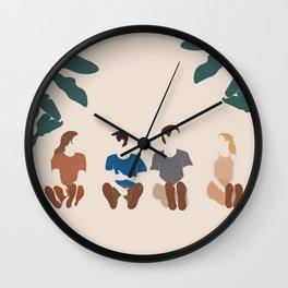 Friends Pop Art 3 Wall Clock