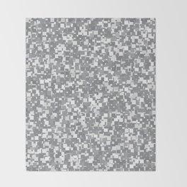 Sharkskin Pixels Throw Blanket