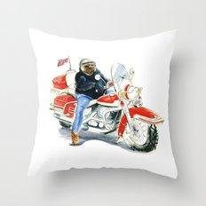 Harley Davidson Biker Throw Pillow