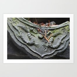 Chinese Dragon Tile Art Print